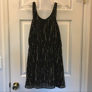 Divided By H&M black dress w Arrow Pattern size 10